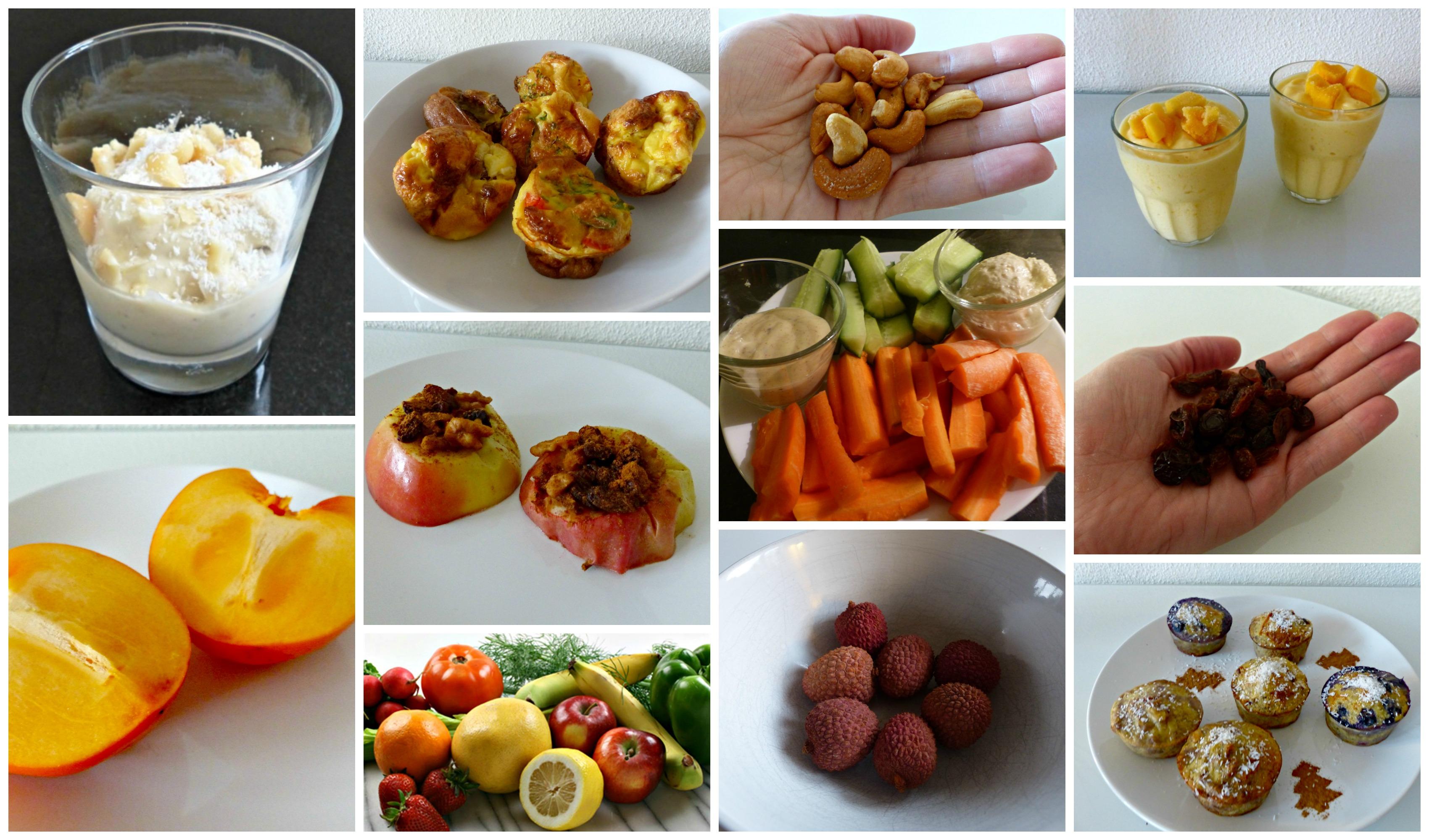 Voeding challenge 4 gezonde tussendoortjes overdag optima vita - Snack eten ...