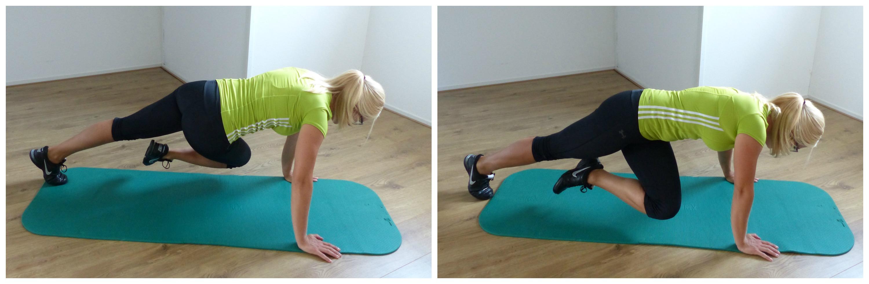 vrouw squat met stang schuin