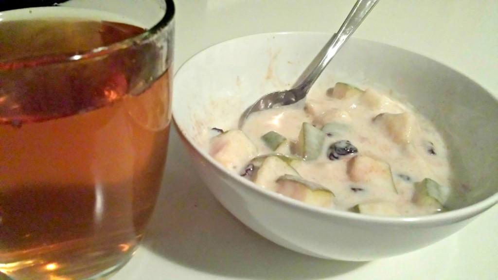 s avonds yoghurt eten